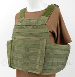 KL en US Army Molle OPS vest - merk MSA Paraclete  met ballistische inhoud - maat Large - origineel
