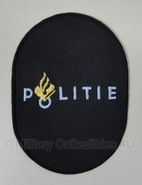 Politie embleem groot ovaal - 13,5 x 9,5 cm - origineel