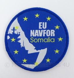KM Marine embleem EU Missie NAVFOR Somalia - met klittenband - doorsnede 7 cm - origineel