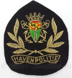 Nederlandse Havenpolitie pet insigne - afmeting 8 x 10 cm - Origineel
