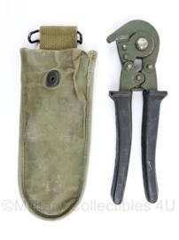 Wo2 US Army draadkniptang tas LEE 1944 met draadkniptang - 24,5 x 9 cm - origineel