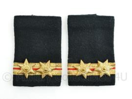 Nederlandse Brandweer epauletten - hoge rang adjunct hoofdbrandmeester 1e klasse - paar - origineel