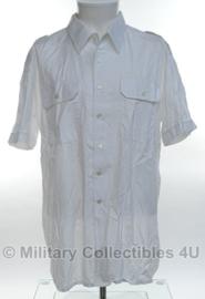 Nederlandse leger overhemd WIT - korte mouw - met borstzakken - 100% katoen - maat 43 - origineel