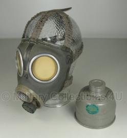 Gasmasker Zweeds M1936 gedateerd 1939 tot 1943 - ongebruikt / MET filter - origineel WO2