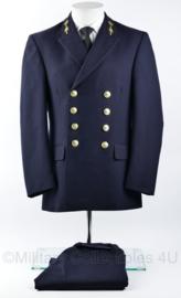 Koninklijke Marine daags blauwe jas met broek 2018 2019 model - zeldzame eenheid - Officieren vlieger waarnemer - maat 45 - origineel