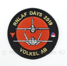 KLU Luchtmacht RNLAF Days 2019 Volkel AB embleem - met klittenband - diameter 9 cm