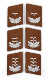 Luftwaffe kraagspiegels Nachrichten - officier (bruin)  - Leutnant tm. Hauptmann