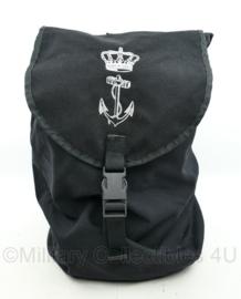 Korps Mariniers zeldzame grote MOLLE tas voor Speciale uitrusting met logo voorop - 40 x 26 x 20 cm - origineel