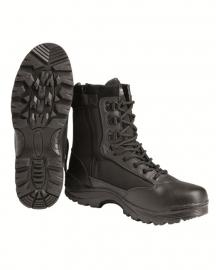 Tactical boot met rits - zwart
