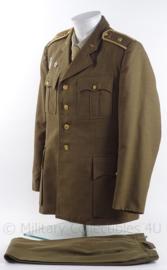 Tsjechisch leger Officiers uniform jas en broek met rang en insignes - maat L - origineel