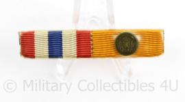 Nederlandse baton medailles  Ereteken Orde en Vrede en onderscheidingsteken voor Trouwe dienst brons -  6 x 1 cm - origineel
