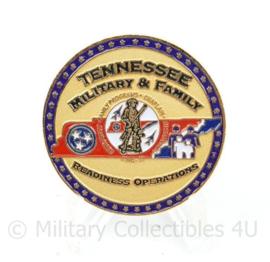 Coin Tennessee YRRP Military and Family National Guard coin - Yellow Ribbon Reintegration Program - diameter 4 cm - origineel