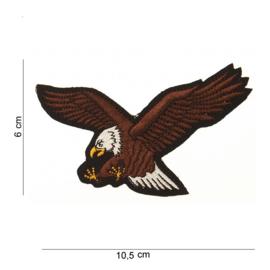 """Embleem Flying Eagle """"links kijkend"""" - 10,5 x 6 cm"""