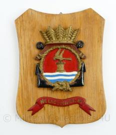 Wandbord Marine Vliegkamp Valkenburg - 18,5 x 14,5 x 1 cm - origineel
