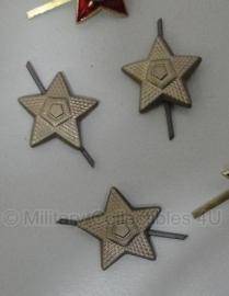 Russische Metalen sterren los 22mm. - origineel