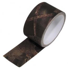 Stoffen camouflage tape voor uitrusting en dergelijke - 5cm breed en 5 meter lang -  Hunter camo