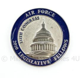 Zeldzame coin Air Force 2010 Legislative Fellows Excellence 111 Congress - diameter 5 cm - origineel