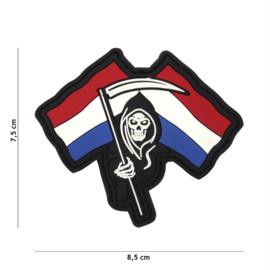 Embleem 3D PVC met klittenband - Dutch Reaper - 8,5 x 7,5 cm.