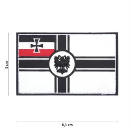 Embleem 3D PVC met klittenband - Duitse Empire vlag - 8,3 x 5 cm.