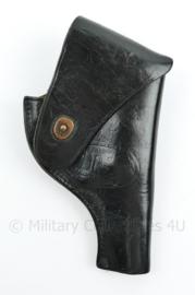 US Army Vietnam oorlog black leather MP Holster .38 SW Smith and Wesson Victory model 10 - zwart leer Bolen Lea PROD 7791495 - 22 x 12 x 3 cm - origineel
