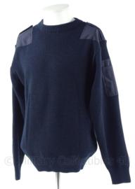 Nederlandse commando trui 70% wol, 20% acryl, 10% polyester - donkerblauw - ronde  hals - maat L tm. 3XL  - origineel