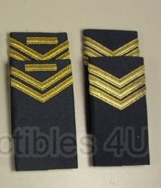 Luchtmacht schouderstukken blauw met gouden strepen - per set - origineel