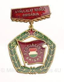 Hongaarse medaille - origineel - metaal - 3,5 x 5 cm