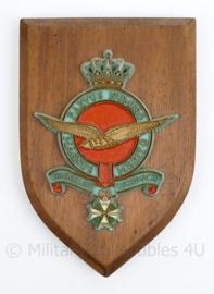 Klu Luchtmacht wandbord - 17 x 11,5 x 1,5 cm - origineel