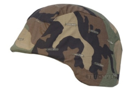 Helmovertrek US Army woodland cover voor  PASGT helm - maat Medium en Large -  origineel