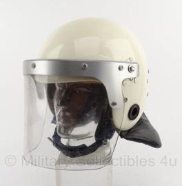 Nederlandse ME Mobiele Eenheid helm - WIT - maat 54/56 - origineel