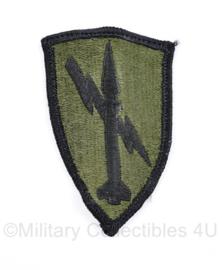 US Army Naoorlogs subdued embleem Defence Command  - 8 x 5 cm - origineel