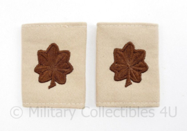 US Army Desert rang paar - 1 paar - Lieutenant Colonel - 6,5 x 4 cm -  origineel