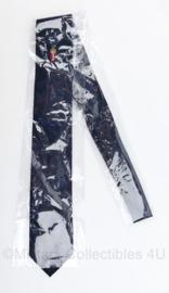 Stropdas Politie Amsterdam - donkerblauw met rode strepen - nieuw in de verpakking - origineel