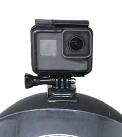 Kunststof helmet mount set Helmsteun set voor GOPRO actioncam camera voor MICH FAST helm - ZWART (zonder helm)