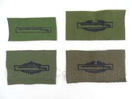 US Army IAB Infantry Assault Badges subdued stof - groen - verschillende badges