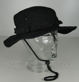Boonie hat / Bush hat - Luxe model Ripstop - Zwart