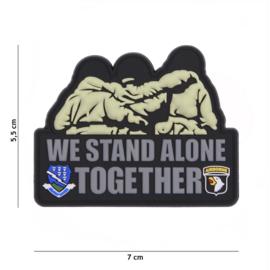 Embleem 3D PVC - met klittenband - We stand Alone together 101st Airborne Div.  - 7 x 5,5 cm.