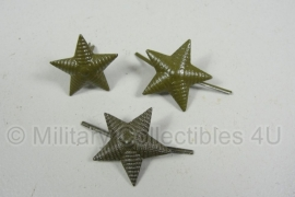 Russische metalen Officiers velddienst ster (voor schouderstuk) -  22mm. groen
