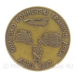 KL Landmacht Coin Drawsko Pommerski Training Area April 1997 - doorsnede 3,5 cm - origineel