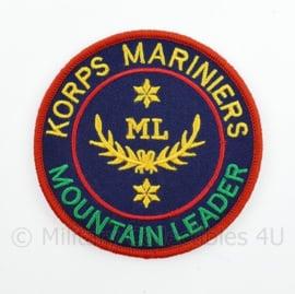 Korps Mariniers ML Mountain Leader embleem - met klittenband - diameter 9 cm