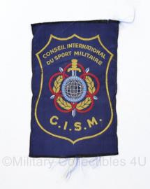 KL CISM Conseil International du Sport Militaire LO Sport embleem blauw -  11 x 7 cm - origineel