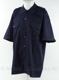 Brandweer kazerne tenue overhemd - korte mouw - donker blauw - maat 7090/1015 - nieuw in de verpakking - origineel