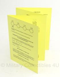 KL Nederlandse leger instructiekaart memorandum voor radiotelefonie - IK 11-7 - druk 10 - origineel