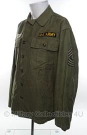 Vietnam oorlog US HBT jas Sergeant Major- met insignes - maat small - origineel