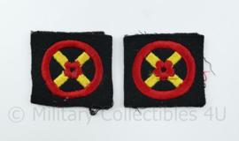 Britse WW2 Western Command Formation Sign arm badge PAAR - 7 x 3 cm - origineel