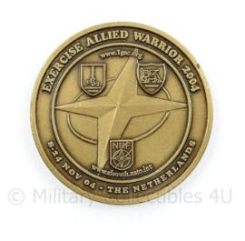 NRF Duits Nederlandse Corps Exercise Allied Warrior 2004 coin - diameter 3,5 cm - origineel
