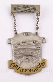 Belgische insigne Fort d' Embourg - 1888 - 9,5 x 5 cm - Origineel