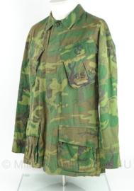 USMC Marine Corps Jungle Fatique uniform jasje - 3rd model ERDL POPLIN - gedateerd 1969 - zeldzaam - maat S/regular - origineel