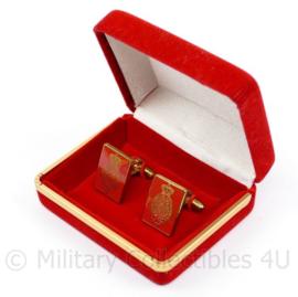 Zeldzame manchet knopen Eerste kamer der Staten Generaal in luxe doosje - 2 x 1,5 cm - origineel