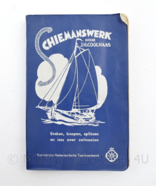 Schiemanswerk boekje door JH Coolhaas - steken knopen splitsen en zeilnaaien